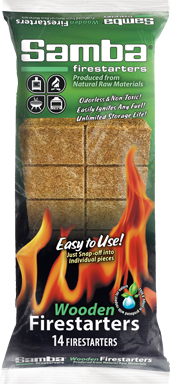 Samba® 14ct Snap-Off Wooden Firestarter Tablet Printed Foil