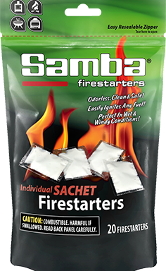 Samba® 20ct Individual Sachet Firestarters Re-sealable Poly