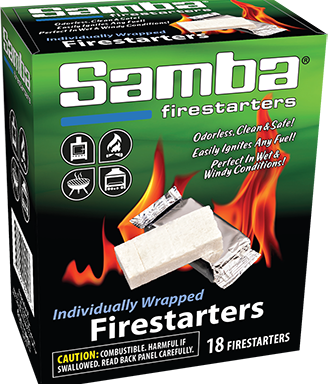 Samba® 18ct Individually Wrapped Firestarters Box